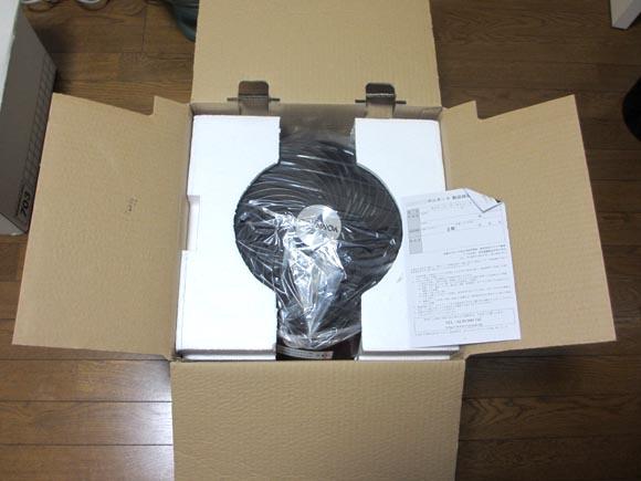 ORNADOのサーキュレーター660-JPの梱包
